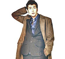 COLOR David Tennant as Doctor Who Photographic Print
