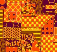 Beautiful Cushions/Digital Quilt Purple and Orange Sticker
