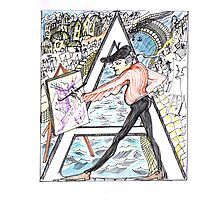 A is for artist Photographic Print
