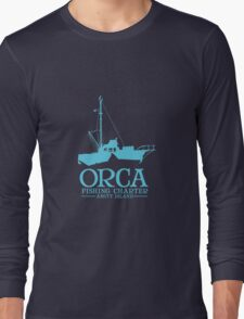 Orca Fishing Charter Long Sleeve T-Shirt
