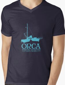 Orca Fishing Charter Mens V-Neck T-Shirt