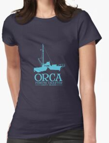 Orca Fishing Charter Womens Fitted T-Shirt