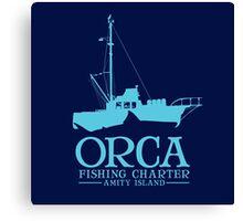 Orca Fishing Charter Canvas Print