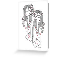 Sisters in a Bottle Greeting Card