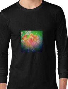 Flower Petals Ablaze Long Sleeve T-Shirt
