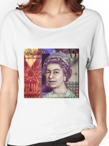 QUEEN ELIZABETH ll-20 POUND NOTE Women's Relaxed Fit T-Shirt