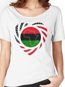 Black Murican Patriot Flag Series 2.0 Women's Relaxed Fit T-Shirt