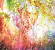 Sparkly Flower Explosion in Rainbow Sticker
