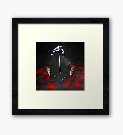 Portrait of a virtual mind. Alex Jones. Framed Print