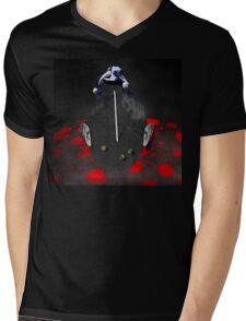 Portrait of a virtual mind. Alex Jones. Mens V-Neck T-Shirt