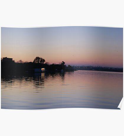 lake+ reflection. Poster