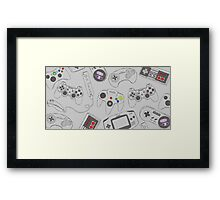 Gaming Controller Pattern Framed Print