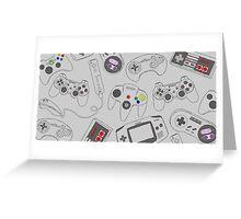 Gaming Controller Pattern Greeting Card