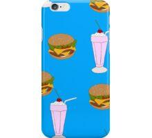 Cheeseburger & Milkshake Pattern iPhone Case/Skin