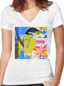 Poster Archaeology 30 Women's Fitted V-Neck T-Shirt