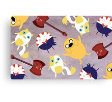 Adventure Time Pattern Canvas Print