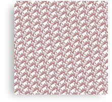 Surf Pattern Pink Canvas Print
