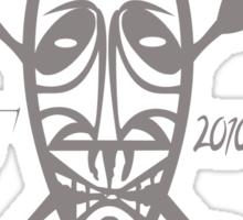 africa super skulls tshirt  by rogers bros Sticker
