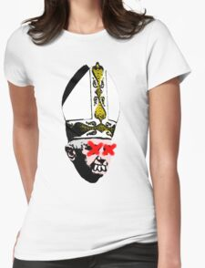 Old Pope Womens Fitted T-Shirt