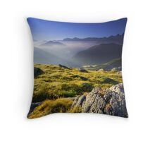 Mountains landscape, Oisans, France Throw Pillow