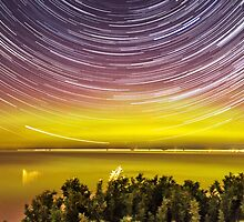Aurora Australis with Star Trails by Russell Wiltshire