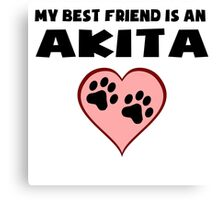 My Best Friend Is An Akita Canvas Print