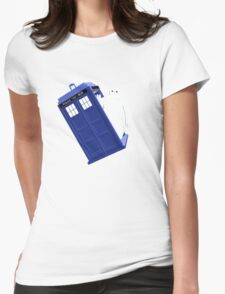 Baymax Inside Flying Tardis Womens Fitted T-Shirt