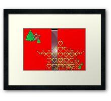 Christmas Greeting Card of wall hanging Framed Print