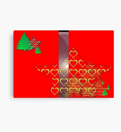 Christmas Greeting Card of wall hanging Canvas Print