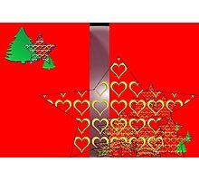 Christmas Greeting Card of wall hanging Photographic Print