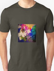 Summer Flower Basket Drenched in Rainbow T-Shirt