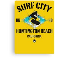 Surf City - Huntington Beach Canvas Print