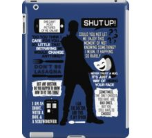 Doctor Who - 12th Doctor Quotes iPad Case/Skin