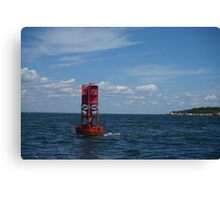 Red Buoy Canvas Print