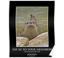 ZooTips: Say Hi to Your Neighbor Poster