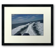 Boat waves Framed Print