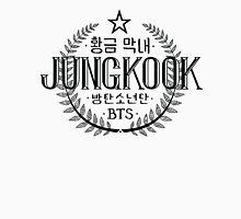 Jungkook - BTS Member Logo Series (Black) Womens Fitted T-Shirt