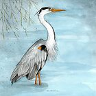 Grey Heron by susanPerez