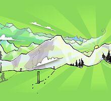 Snow Mountain by lucycorrina