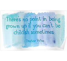 Doctor Who watercolor quote Poster
