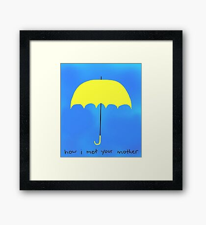 The Yellow Umbrella Framed Print
