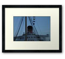 Queen Mary Time Warp Framed Print