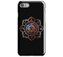 Om Lotus Flower Yoga Poses iPhone Case/Skin