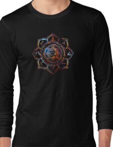 Om Lotus Flower Yoga Poses Long Sleeve T-Shirt