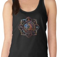 Om Lotus Flower Yoga Poses Women's Tank Top
