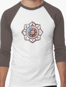 Om Lotus Flower Yoga Poses Men's Baseball ¾ T-Shirt