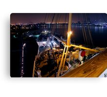 Queen Mary Night Bow Canvas Print