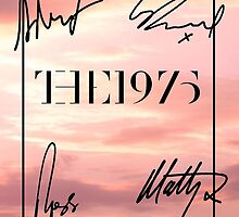 The 1975 Pink Sky + Signatures  by madeoflightingg