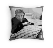 gothic boy in casket Throw Pillow
