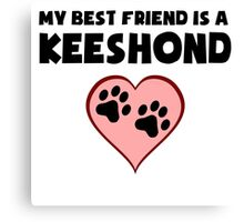 My Best Friend Is A Keeshond Canvas Print